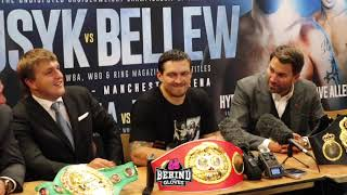 OLEKSANDR USYK IMMEDIATELY AFTER DEFEATING TONY BELLEW- DISCUSSES MOVING TO HEAVYWEIGHT