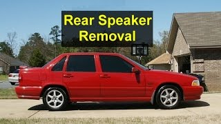 How to remove the rear deck speakers in a Volvo S70 - VOTD