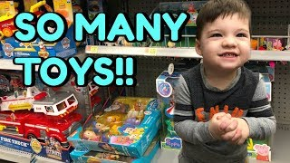 2 Year Old Caleb Goes Toy Shopping At Walmart Peppa Pig Toys Surprise Toys And Blind Bags