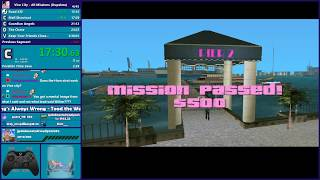 GTA Vice City All Missions Speedrun - Hugo_One Twitch Stream - 1/29/2020