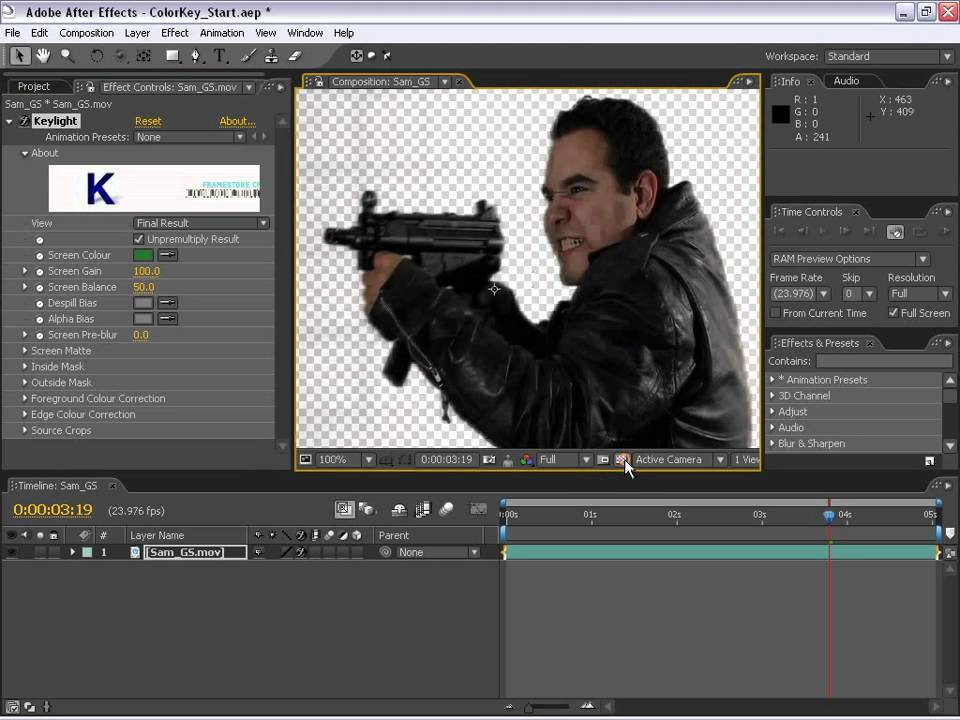 Как сделать прозрачный фон на видео