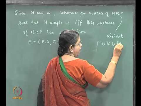 Mod-06 Lec-34 POST'S CORRESPONDENCE PROBLEMS