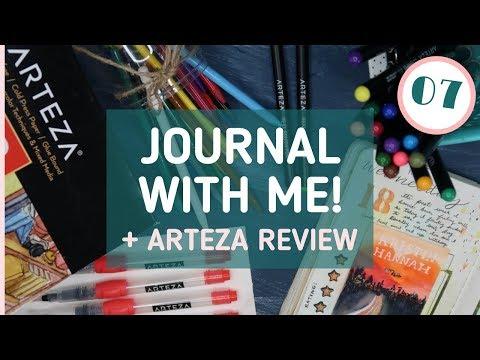Creative Journaling Session 07 + ARTEZA Art Supplies Review