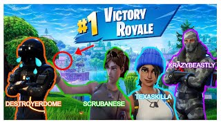 FORTNITE FUNNY MOMENTS on Twitch Stream(Where DestroyerDome769 gets EXPOSE by Scrubanese pt.1)