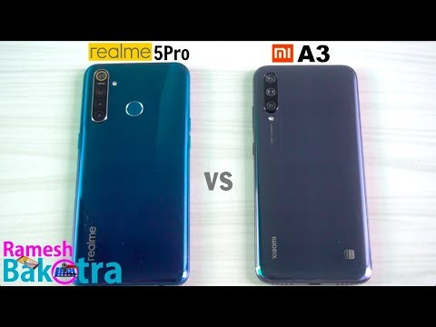 Realme 5 Pro vs Mi A3 SpeedTest and Camera Comparison