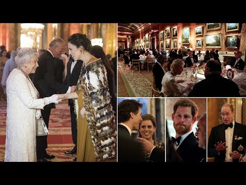 Missing Markle: The Queen hosted state DINNER for members of royal family & world leaders