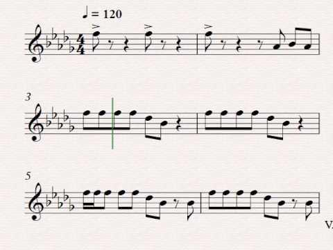 That's What I Like Bruno Mars -Violin music sheet