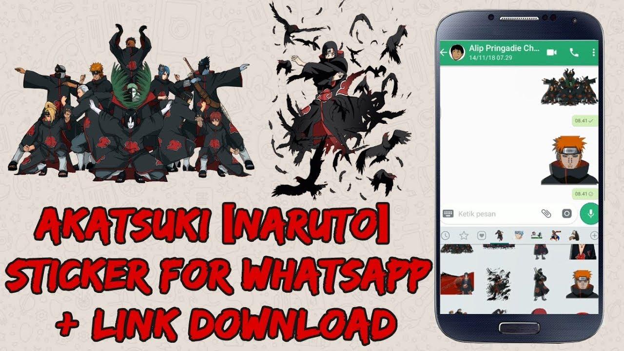 Stiker whatsapp anime naruto akatsuki link download