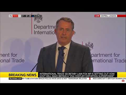 Liam Fox vows to make the UK an exporting superpower after Brexit