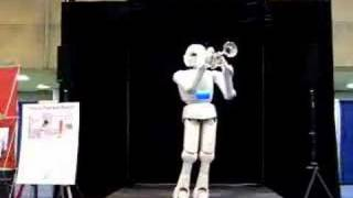 Robot from Toyota playing the trumpet