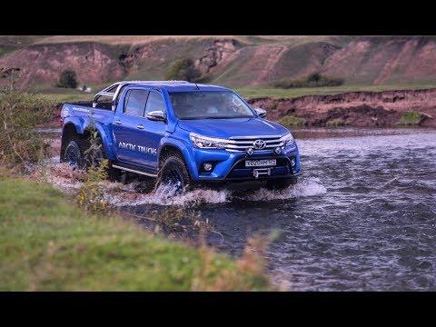 Тестдрайв Toyota Hilux Arctic Trucks 6x6 и Land Cruiser 200 (2017).