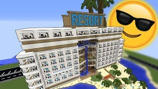 Kæmpe Hotel/Resort i Minecraft på 10 timer