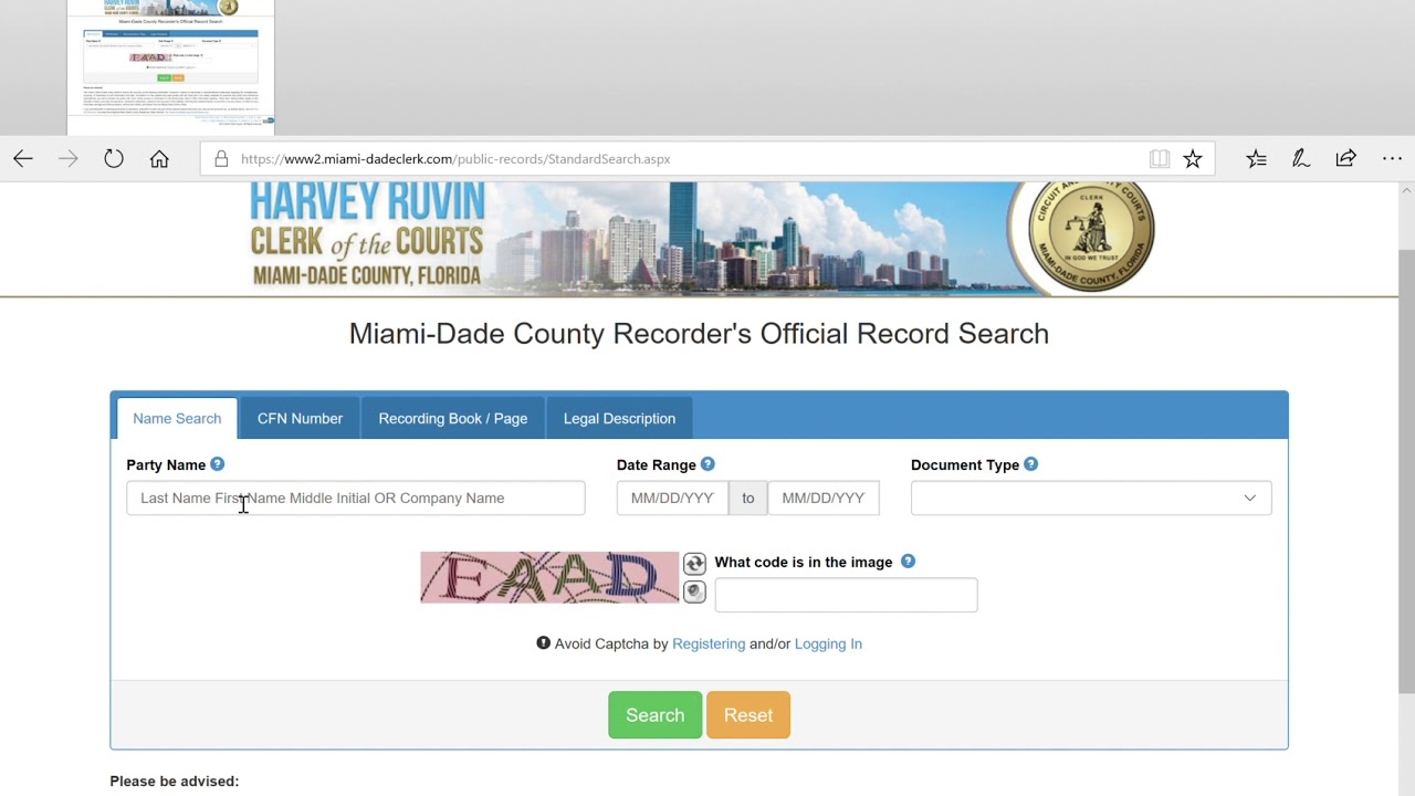 Miami Dade County Official Records Search