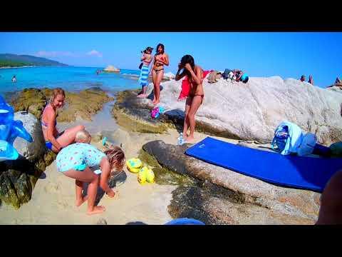 Orange Beach Sithonia Greece  4K