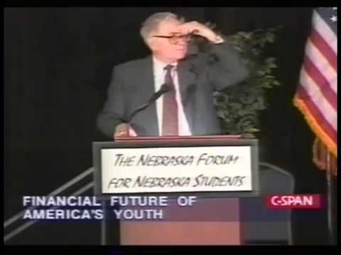 How to Stay Out of Debt  Warren Buffett   Financial Future of American Youth 1999