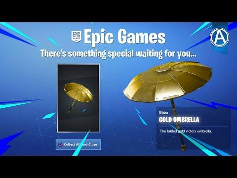 "NEW Fortnite ""GOLD UMBRELLA"" Coming Soon! (Fortnite Battle Royale LIVE) thumbnail"
