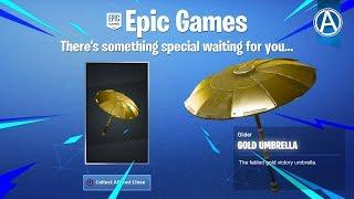 "NEW Fortnite ""GOLD UMBRELLA"" Coming Soon! (Fortnite Battle Royale LIVE)"