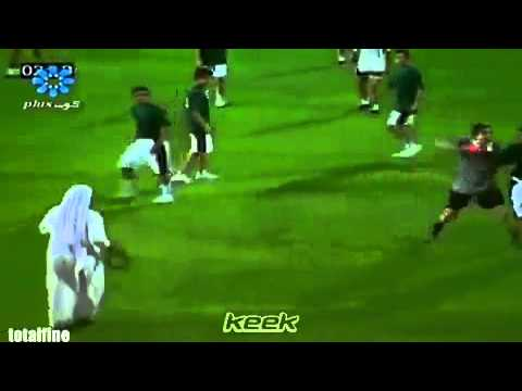 HILARIOUS!!! Arab coach trying to whip the opponent's player!
