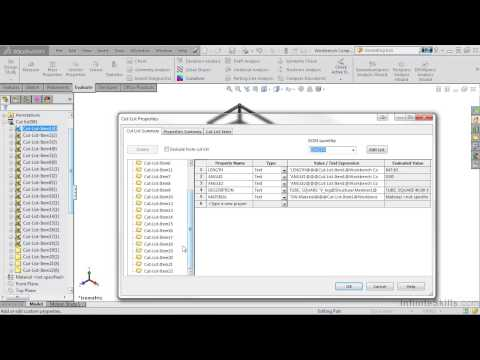 SolidWorks Weldments Tutorial | Other Cut List Features