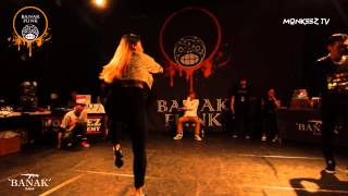 DASOUL VS WIZZARD  / BEST 8 / 1on1 Waacking side / BANAK FUNK vol.2 / MONKEEZ TV