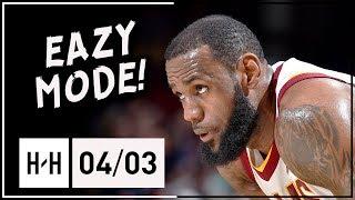 LeBron James Full Highlights Cavs vs Raptors (2018.04.03) - 27 Pts, 10 Reb, 6 Ast, EASY!
