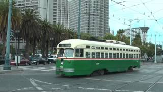 Colorfull Classic PCC streetcars in San Francisco
