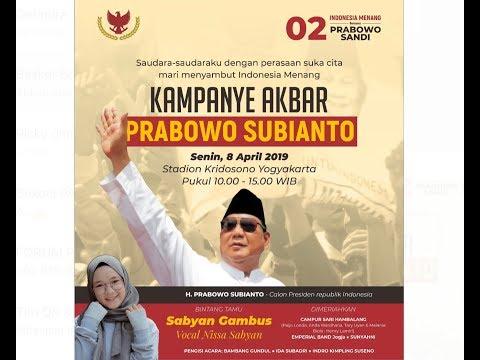 Prabowo slams podium at campaign event, calmed by Amien Rais