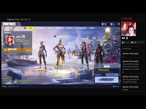It's a goodnight for some Fortnite Baby.... Want some come get some....LIVE