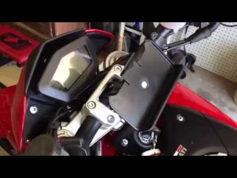 Diy Cellphone Holder For Motorcycle Youtube