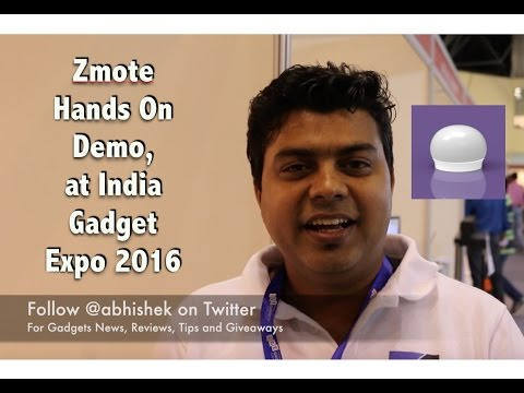 Use Phone without IR Sensor As Universal Remote, ZMote Demo At India Gadget Expo
