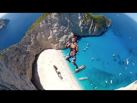 Most Incredible Basejump Site Navagio Beach Greece