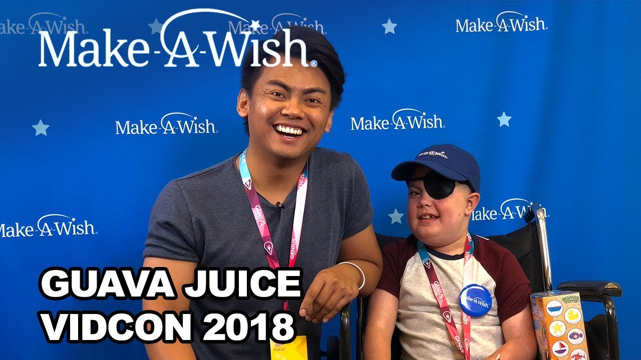 guava juice with make a wish at vidcon 2018 make a wish youtube