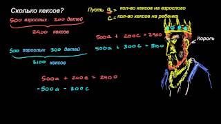 Королевские кексы. Системы уравнений  | Системы уравнений | Алгебра I (5 видео)