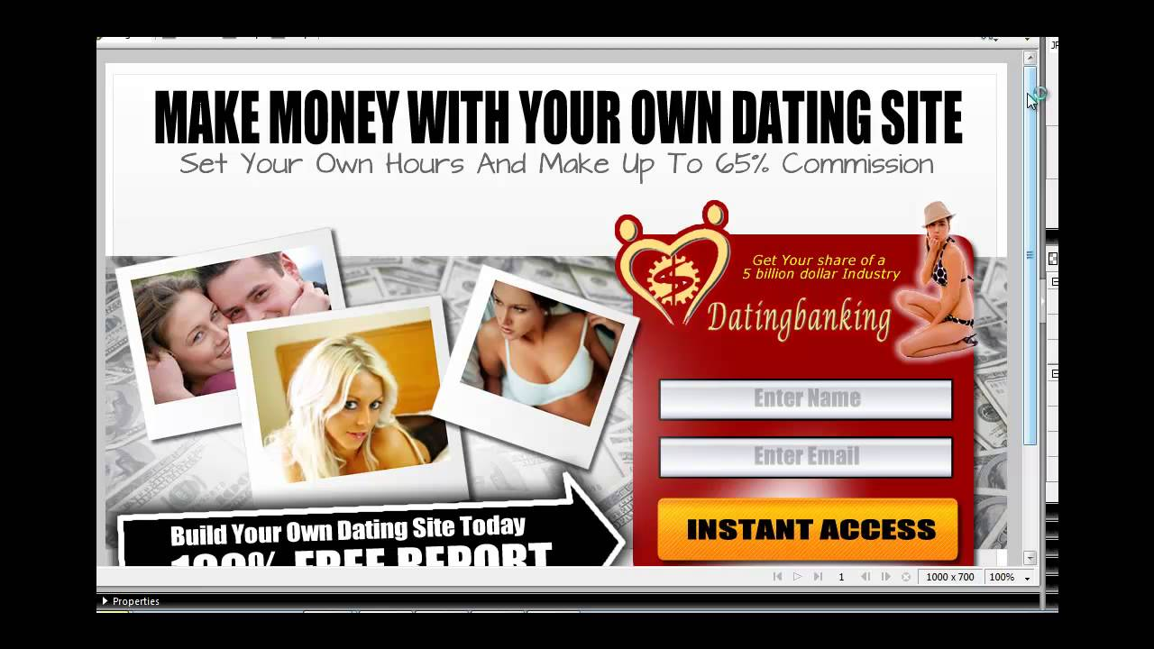 Custom dating website design