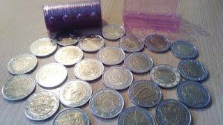 Обзор БАНКОВСКИХ РОЛЛОВ с юбилейными монетами 2 ЕВРО(Всем привет! #обзор Взял в банке два ролла с монетами по 2 #евро. Стало интересно сколько в них может быть..., 2016-03-05T19:30:17.000Z)