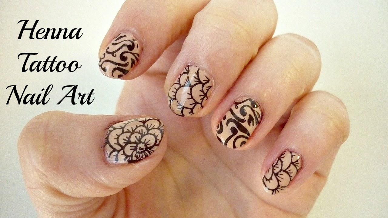 Henna Tattoo Nail Art Stamping Tutorial Bornprettystore Review