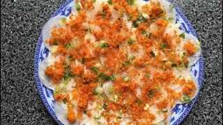 Cách làm bánh bèo dễ dàng mà ko cần pha bột/ Cách làm bánh bèo cấp tốc/Steamed Rice Cake | Bếp Nai