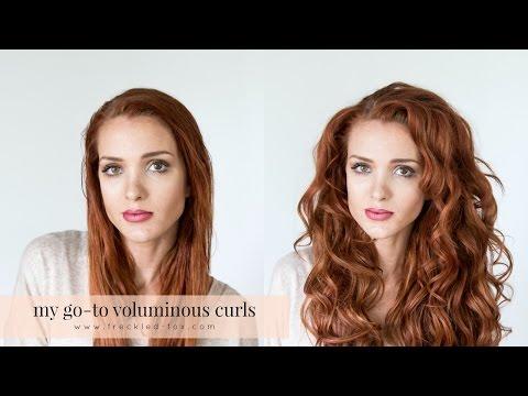 HAIR TUTORIAL || MY GO-TO VOLUMINOUS CURLS