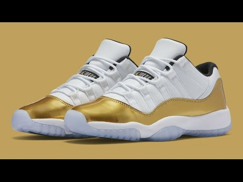 189e1c1b965 Air Jordan 11 Low Metallic Gold (Closing Ceremony) • KicksOnFire.com