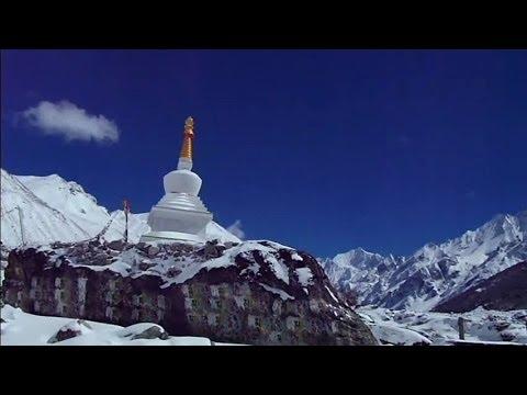 Beautiful Buddhist stupa in the Himalayas, Nepal
