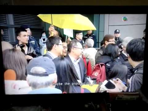 """TVB Pearl News at 7:30 20150124: 3 Organisers of the """"Occupy Central"""" were arrested"""