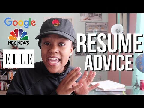 COMPETITIVE RESUME TIPS That Got Me Internships At GOOGLE, NBC And ELLE Magazine