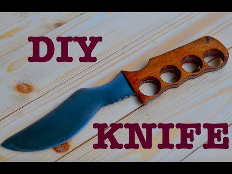 How to make a Classic Knife using Old Metal Sheet