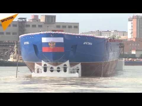 Nuclear 'Arctic': Russia Launches World's Largest Icebreaker