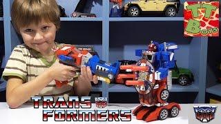 ✔ Трансформеры. Распаковка Оптимус Прайм с Игорьком / Transformer OPTIMUS PRIME Soft Bullet Blaster