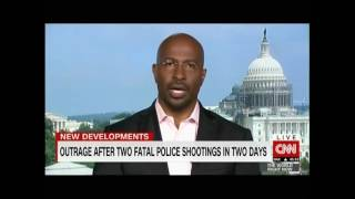 Alton Sterling & Philando Castile - CNN International gets Van's first reaction