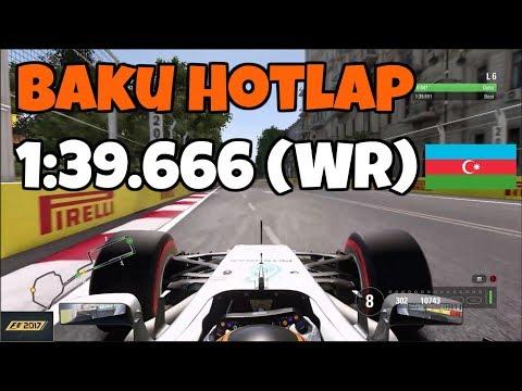 F1 2017 Baku Hotlap + Setup: 1:39.666 (World Record)
