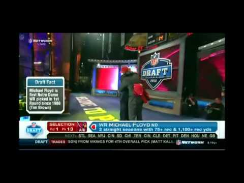 2012 NFL Draft Arizona Pick 13 WR Michael Floyd