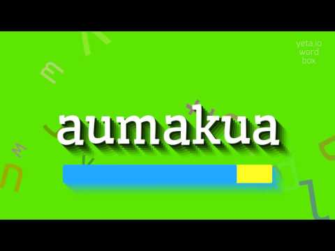 "How to say ""aumakua""! (High Quality Voices)"