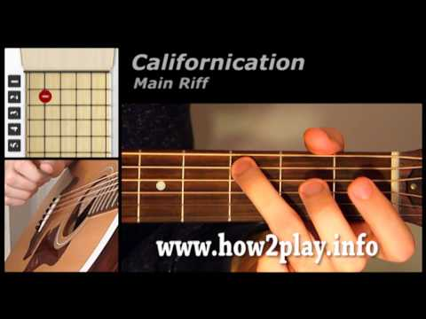 Californication Guitar Lesson | How to play californication